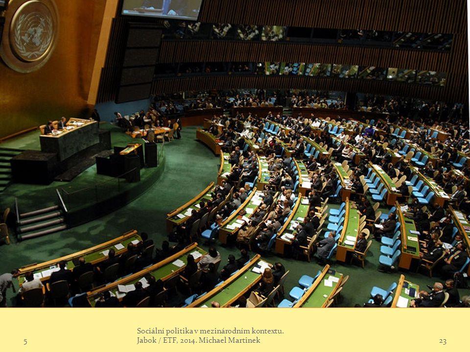 5 Sociální politika v mezinárodním kontextu. Jabok / ETF, 2014. Michael Martinek23