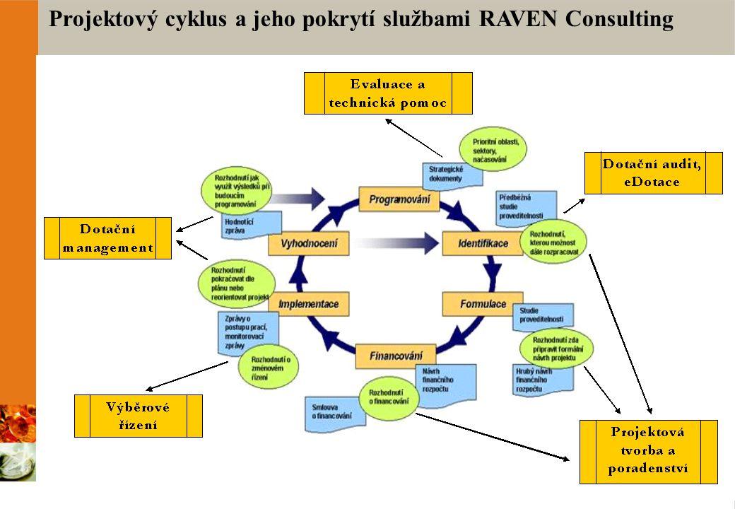 Projektový cyklus a jeho pokrytí službami RAVEN Consulting