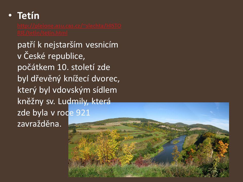 Tetín http://pleione.asu.cas.cz/~slechta/HISTO RIE/tetin/tetin.html http://pleione.asu.cas.cz/~slechta/HISTO RIE/tetin/tetin.html patří k nejstarším v