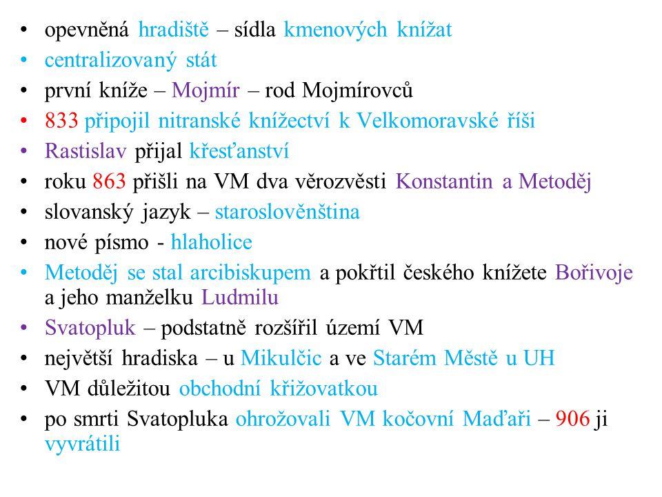 ČECHY V DOBĚ KNÍŽECÍ o nejstarších českých dějinách máme zprávy až od Kosmase, který žil v 11.