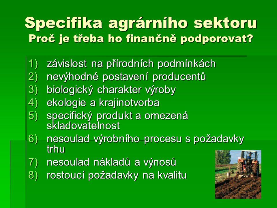Zastropování neboli CAPPING  Další diskriminační prvek  V ČR je průměrná velikost farmy 90ha (v EU 15ha) – zastihlo by to 50% podniků (v EU 15ha) – zastihlo by to 50% podniků  Ztráta by byla 6 – 12 mld.