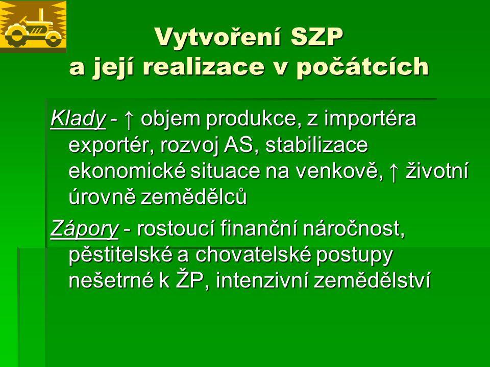 FINANCOVÁNÍ SZP Ochrana přírodních zdrojů a hospodaření s nimi  2007 – 2013 – rozpočtový okruh 2  369,8 mld eur  (291 mld – 1.