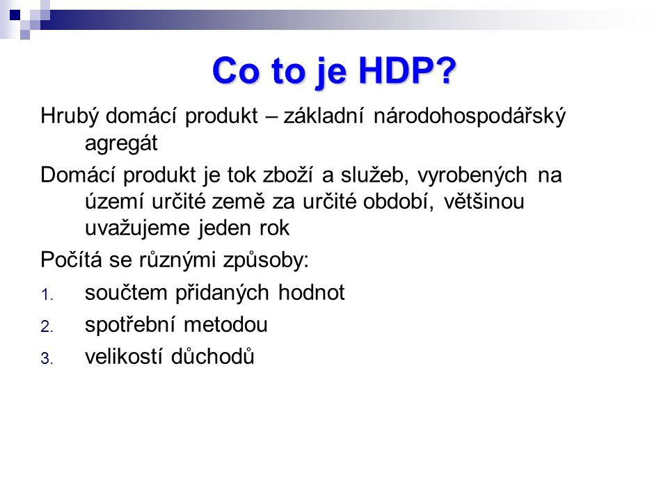 Co to je HDP.