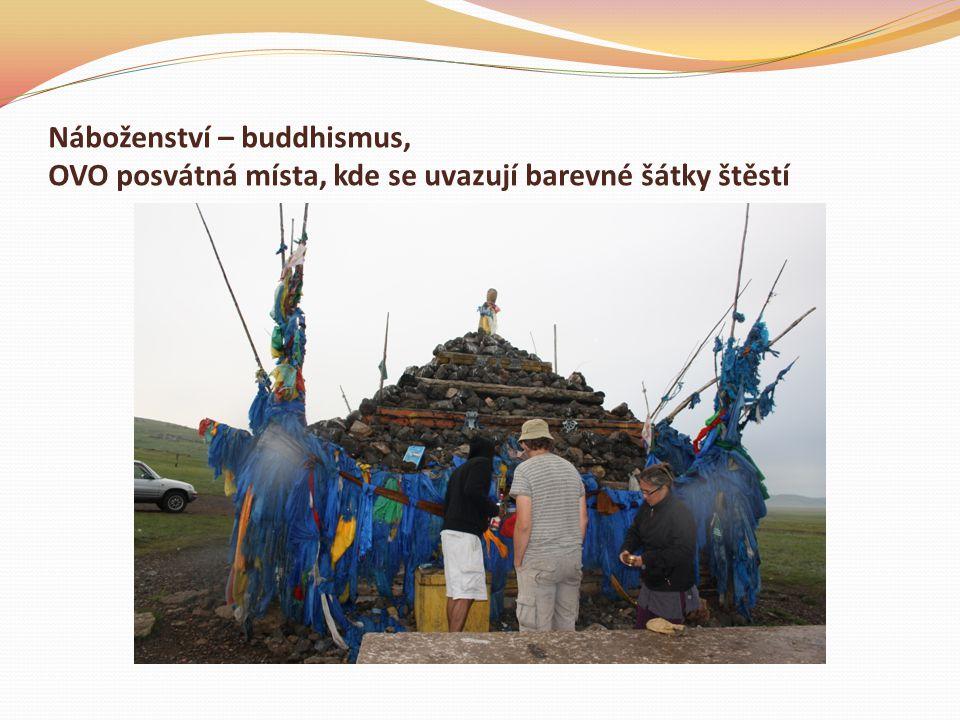 Náboženství – buddhismus, OVO posvátná místa, kde se uvazují barevné šátky štěstí