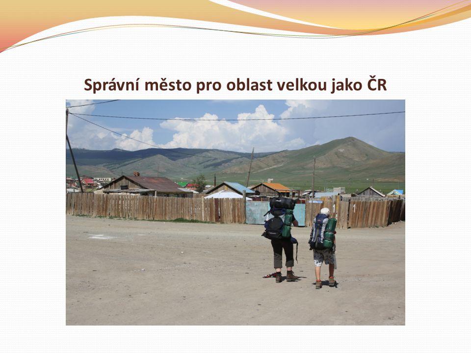Správní město pro oblast velkou jako ČR