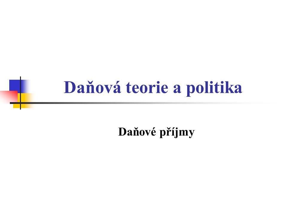 Daňová teorie a politika Daňové příjmy