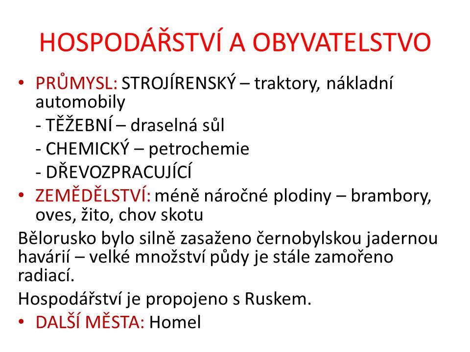 OPAKOVÁNÍ Doplňte text: Mezi státy východní Evropy patří ………., ……….