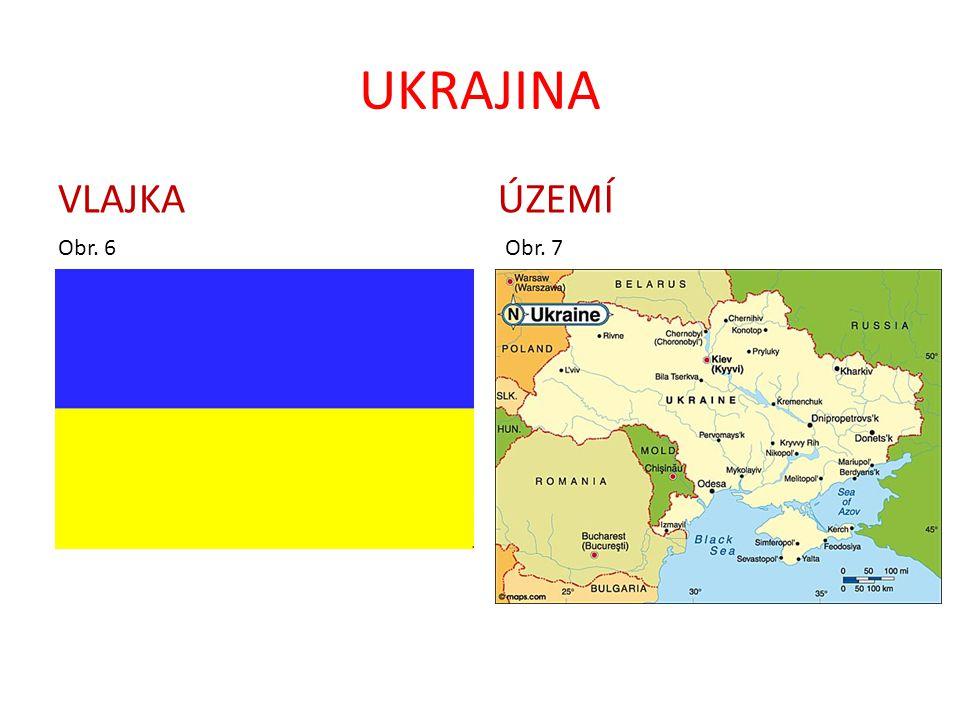 UKRAJINA FAKTA A ČÍSLA: Rozloha: 603 700 km 2 Počet obyvatel: 52 000 000 Hlavní město: Kyjev ( 2 650 000) Státní zřízení: republika Úřední jazyk: ukrajinština Měna: karbovanec Hlavní náboženství: křesťanství HDP: 1 670 US dolarů