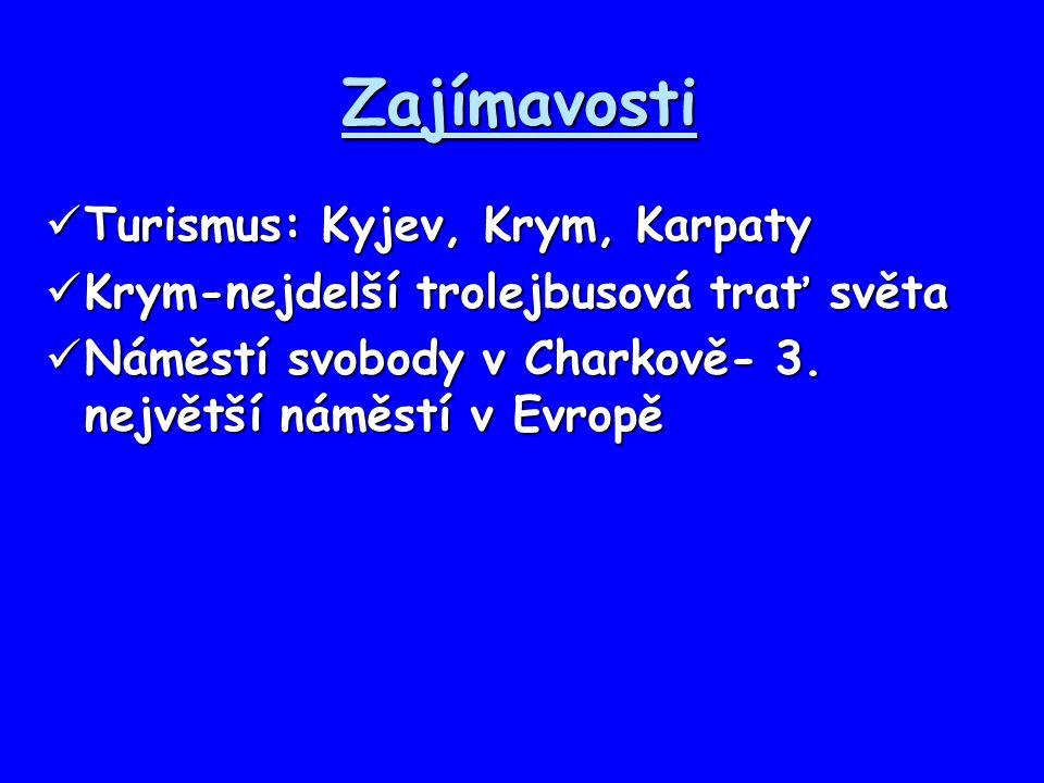 Zajímavosti Turismus: Kyjev, Krym, Karpaty Turismus: Kyjev, Krym, Karpaty Krym-nejdelší trolejbusová trať světa Krym-nejdelší trolejbusová trať světa