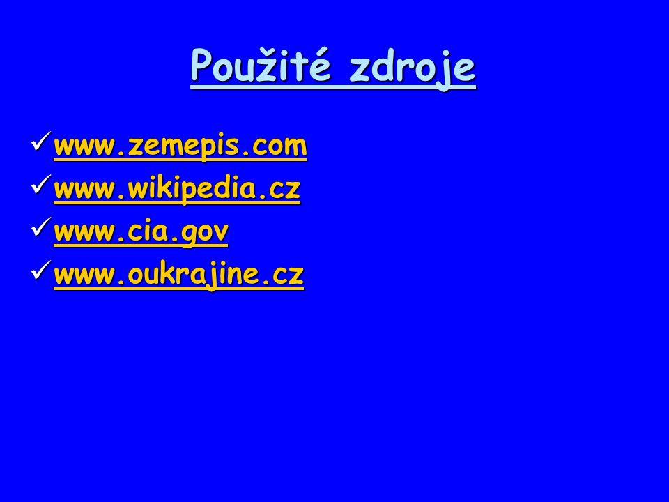 Použité zdroje www.zemepis.com www.zemepis.com www.zemepis.com www.wikipedia.cz www.wikipedia.cz www.wikipedia.cz www.cia.gov www.cia.gov www.cia.gov
