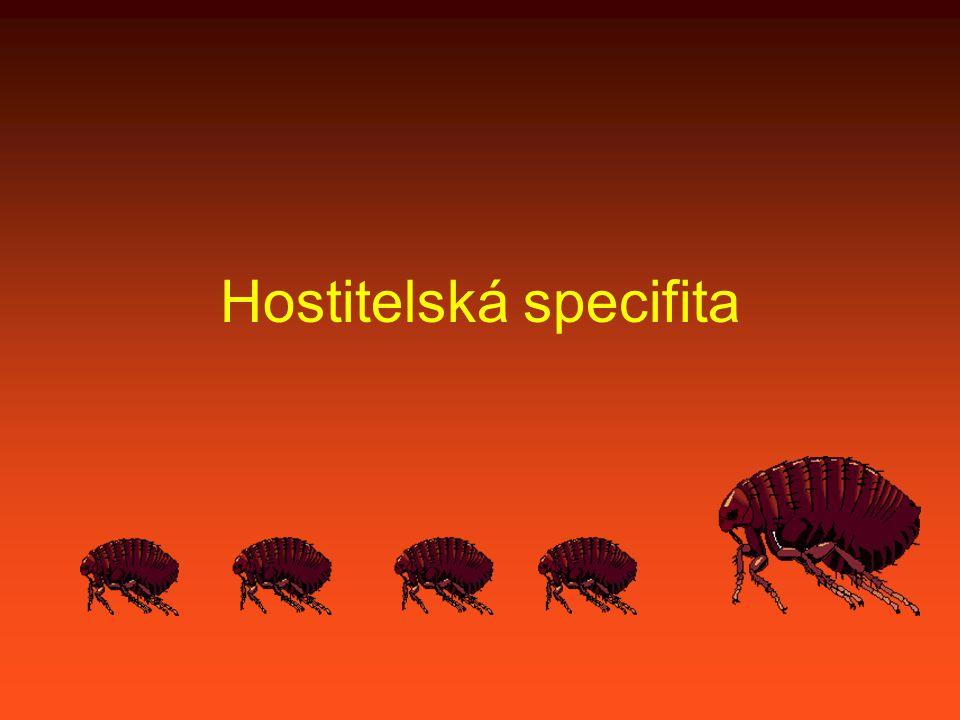 Problémy se stanovením specifity Rohdeho index má význam pouze tehdy, když mají paraziti stejný či podobný počet hostitelů.