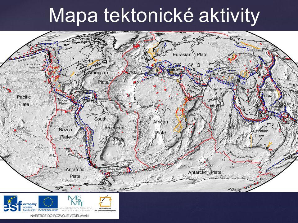 Pohyby desek – od sebe Středooceánské hřbety  vzniká zde nová oceánská zemská kůra  magma odtlačuje desky od sebe  na hřbetech je kůra nejmladší  zvedají se až 3 km nad okolí  středem probíhá oceánský rift – údolí, sníženina
