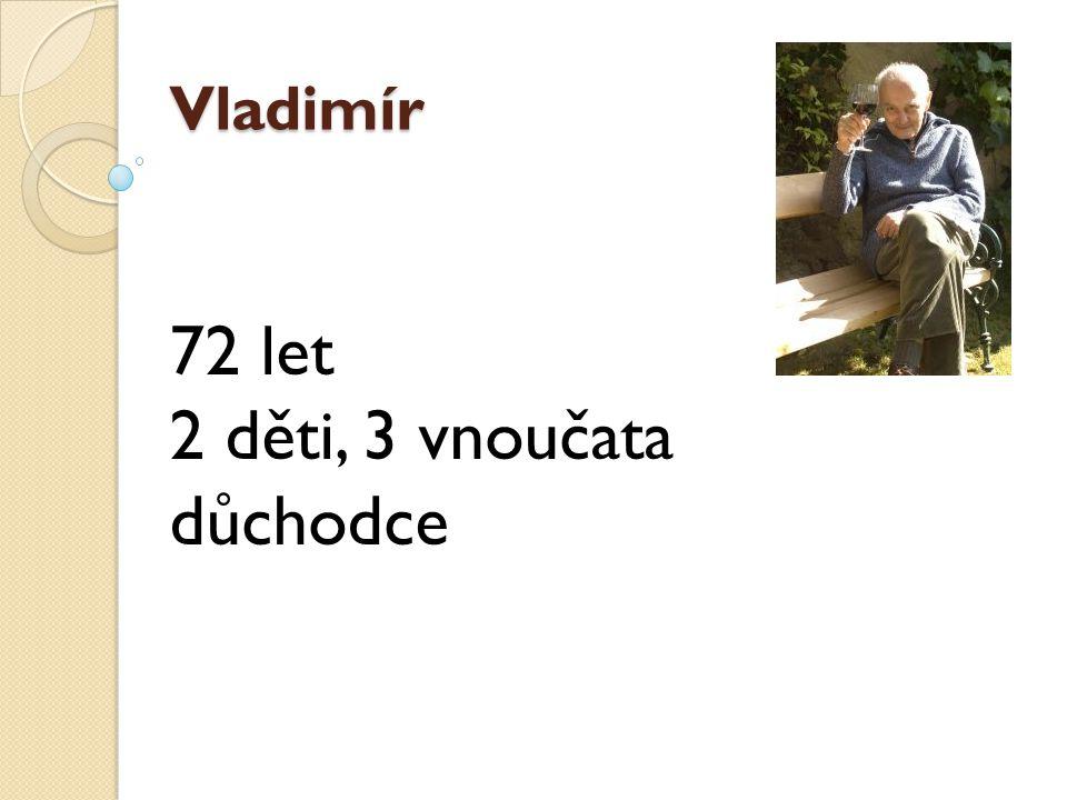 Vladimír 72 let 2 děti, 3 vnoučata důchodce