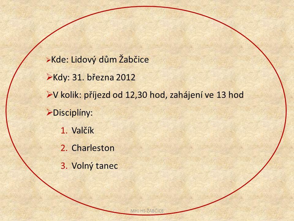  Kde: Lidový dům Žabčice  Kdy: 31.