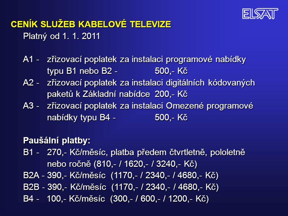 DVB-C – PAKET I - K 36 (594,00 MHz) (HDTV ) Symbolrate 6900, Modulace QAM 256!.