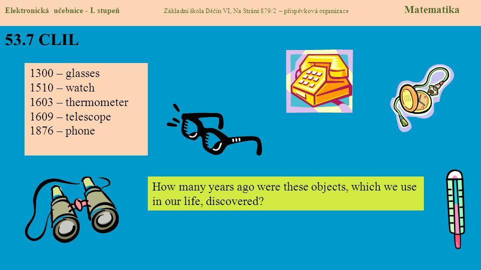 53.8 Test znalostí Správné odpovědi: 1.a 2.c 3.d 4.d Test na známku Elektronická učebnice - I.