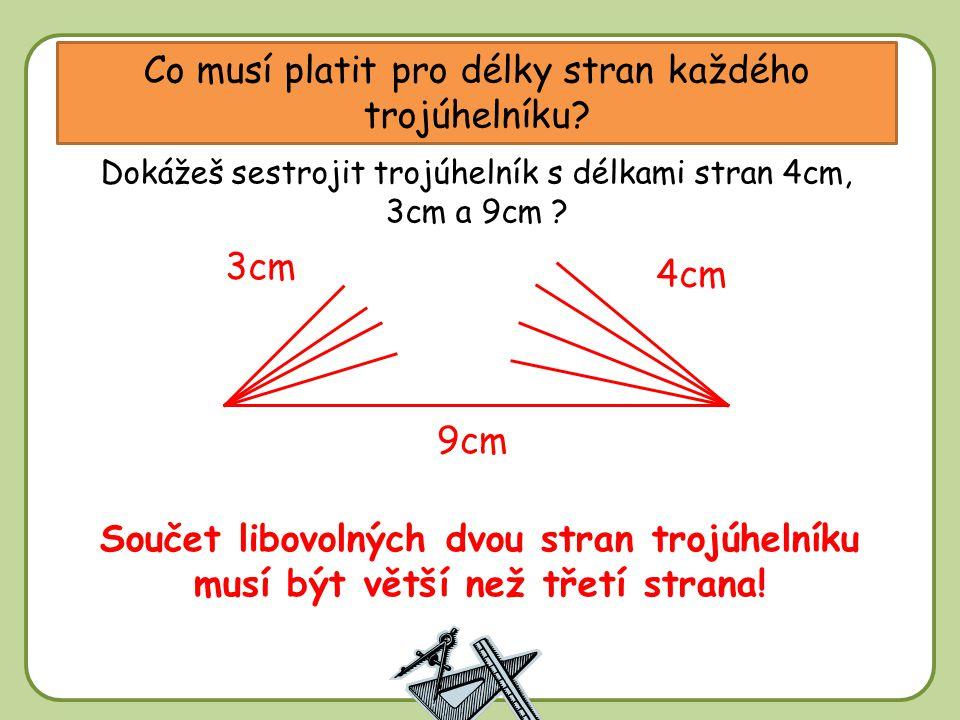 DD Co musí platit pro délky stran každého trojúhelníku.