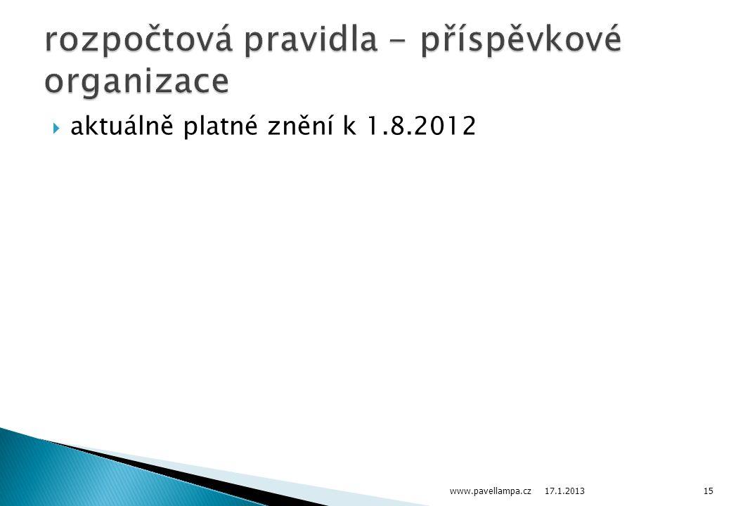  aktuálně platné znění k 1.8.2012 17.1.2013 www.pavellampa.cz15