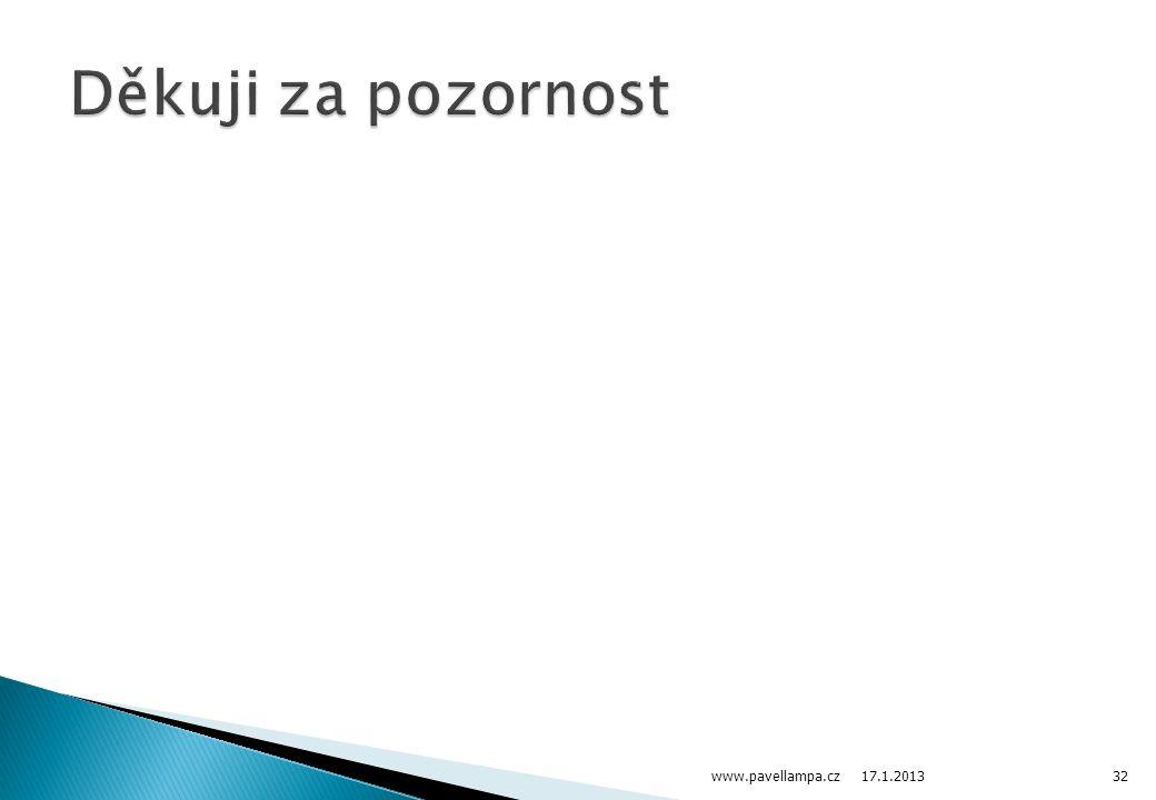 17.1.2013 www.pavellampa.cz32