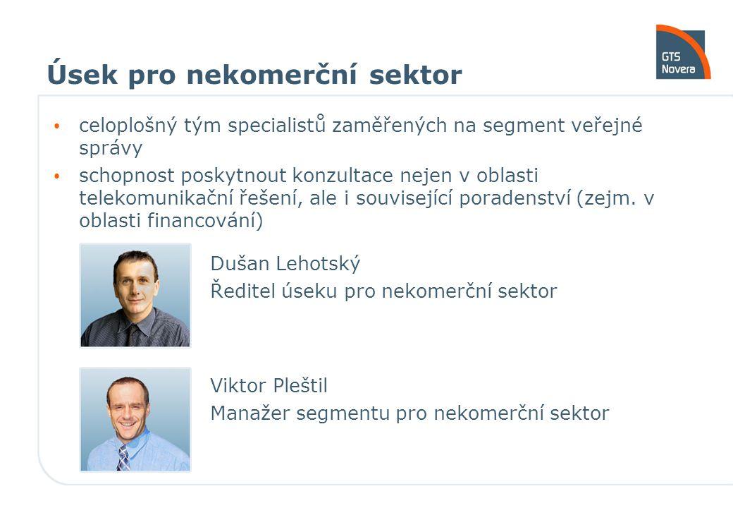 Úsek pro nekomerční sektor Vítězslav Hájek Obchodní konzultant pro st.