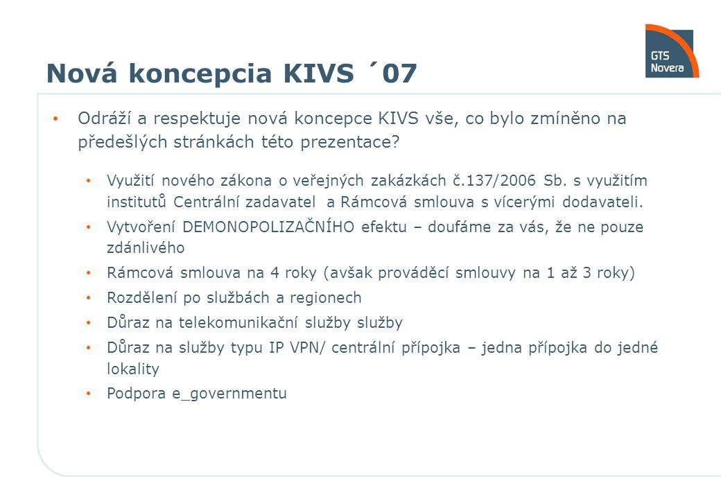 Nová koncepcia KIVS ´07 Odráží a respektuje nová koncepce KIVS vše, co bylo zmíněno na předešlých stránkách této prezentace.