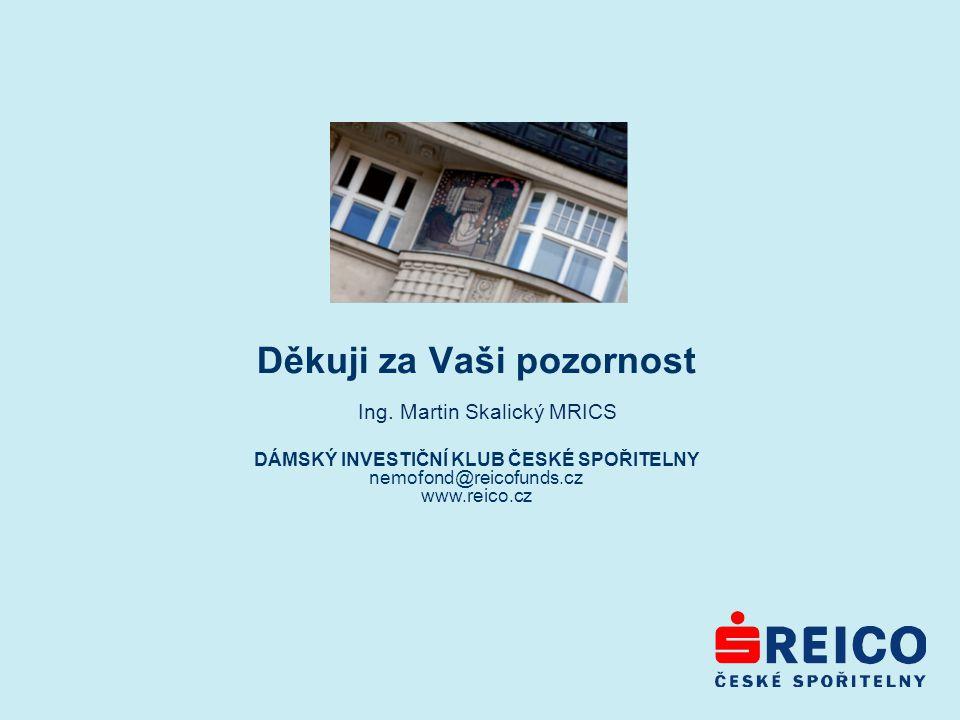 Děkuji za Vaši pozornost DÁMSKÝ INVESTIČNÍ KLUB ČESKÉ SPOŘITELNY nemofond@reicofunds.cz www.reico.cz Ing.