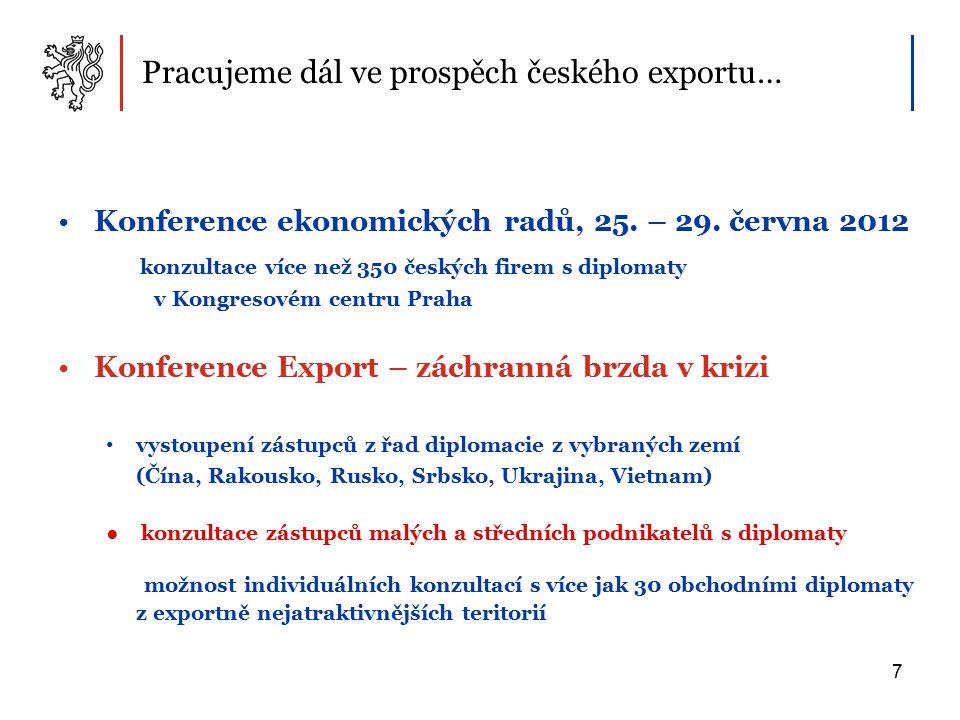 Pracujeme dál ve prospěch českého exportu… Konference ekonomických radů, 25.