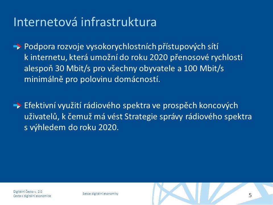 Sekce digitální ekonomiky Digitální Česko v.