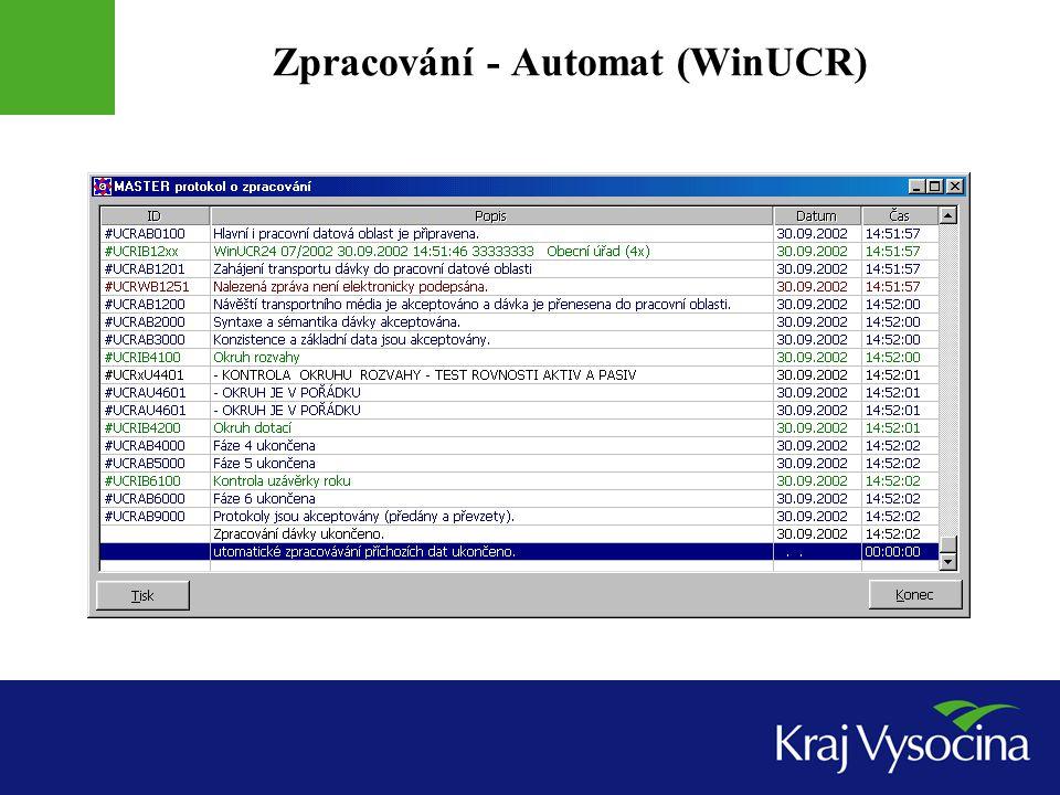 Zpracování - Automat (WinUCR)