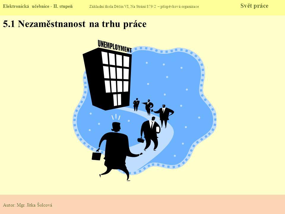 5.2 Nezaměstnanost Elektronická učebnice - II.