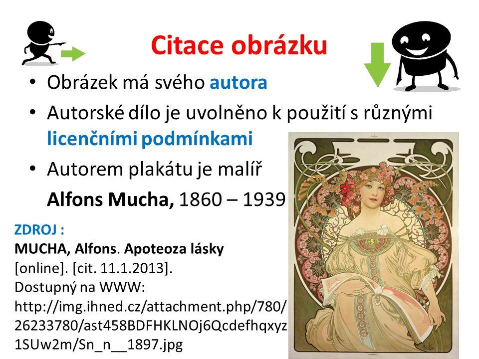 Citace obrázku Obrázek má svého autora Autorské dílo je uvolněno k použití s různými licenčními podmínkami Autorem plakátu je malíř Alfons Mucha, 1860