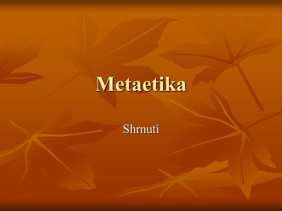 Metaetika Shrnutí