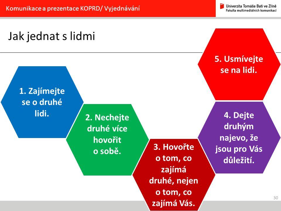 30 Jak jednat s lidmi Komunikace a prezentace KOPRD/ Vyjednávání 1.