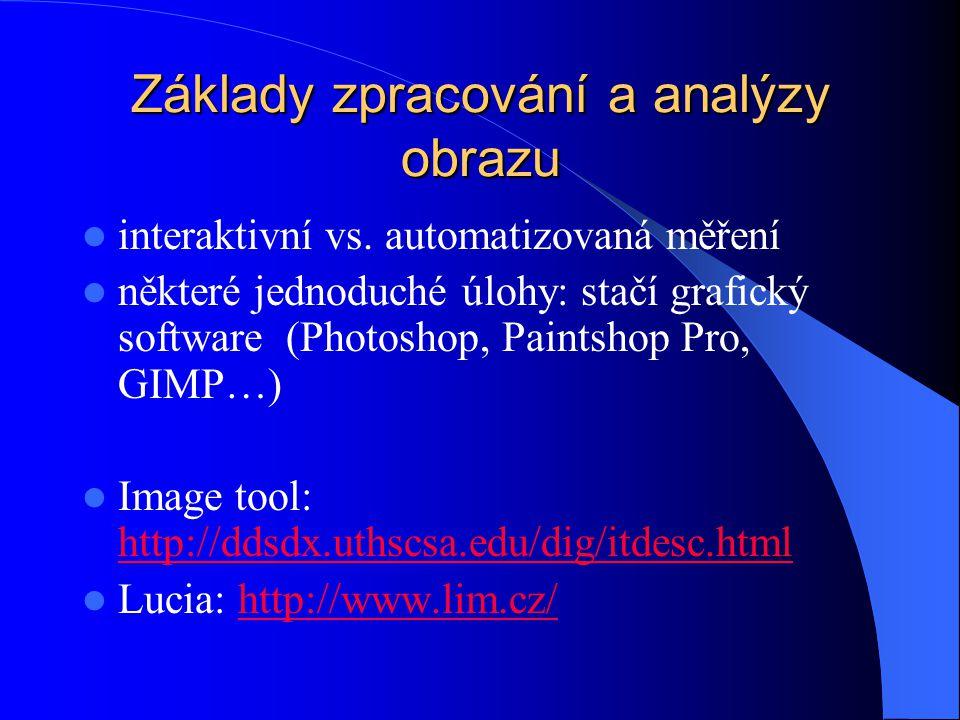 Základy zpracování a analýzy obrazu interaktivní vs.