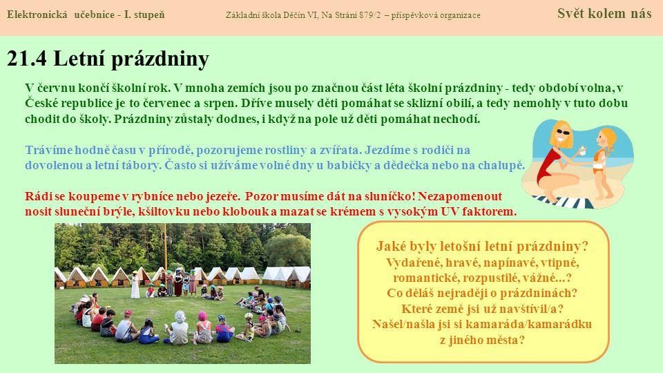 21.3 Jaké si řekneme nové termíny a názvy. Elektronická učebnice - I.
