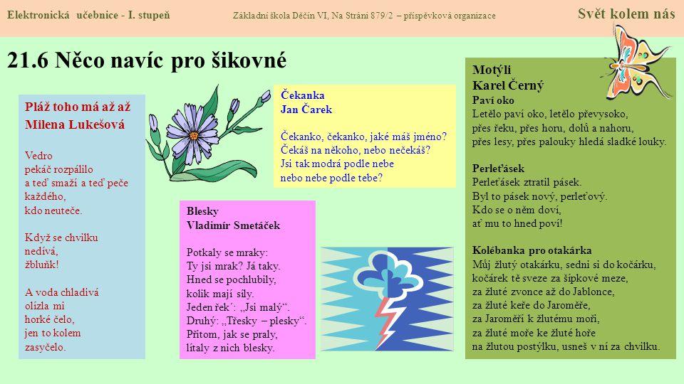 21.5 Procvičení a příklady Elektronická učebnice - I.