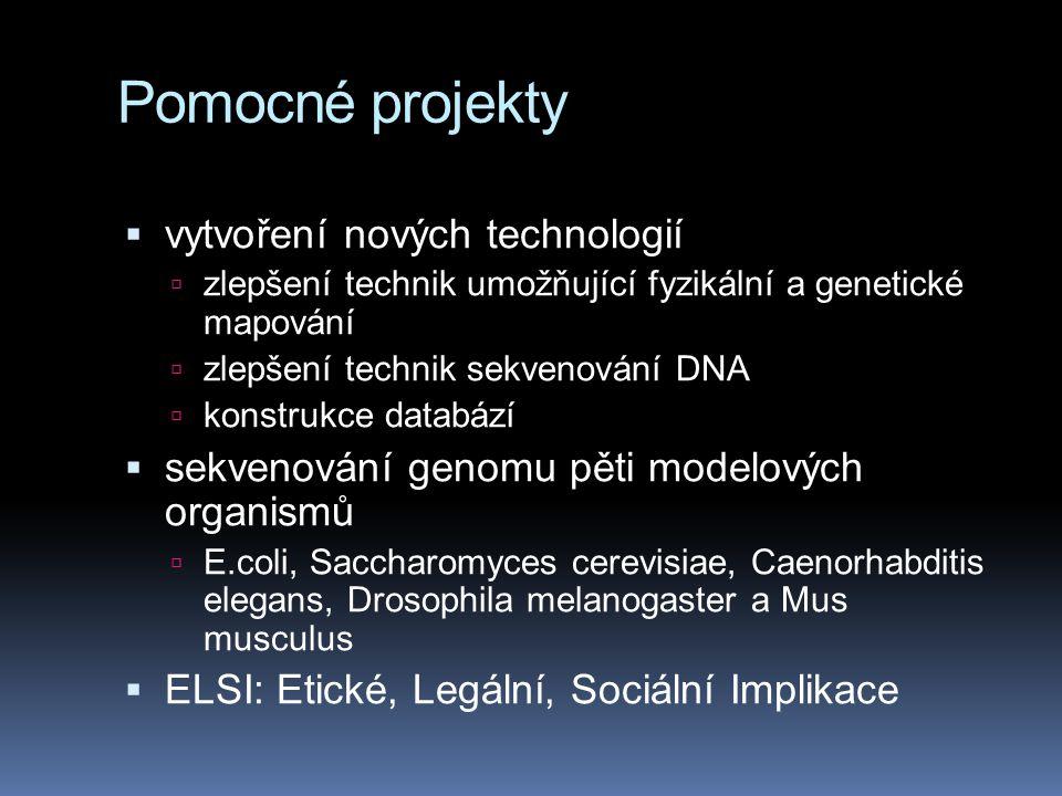 """Etika publikování výsledků  2003:  vznikjí společné databáze (EMBL- bank/GenBank/DDBJ)  obsahuje přes 40 miliard pb  z více než 100 000 odlišných organismů  všechny tyto tři databáze zavádějí politiku, která je zároveň odvážná a předvídavá: nechť jsou všechna data volně přístupná všem (ať již to jsou firmy, akademičtí pracovníci nebo """"pan Novák )"""