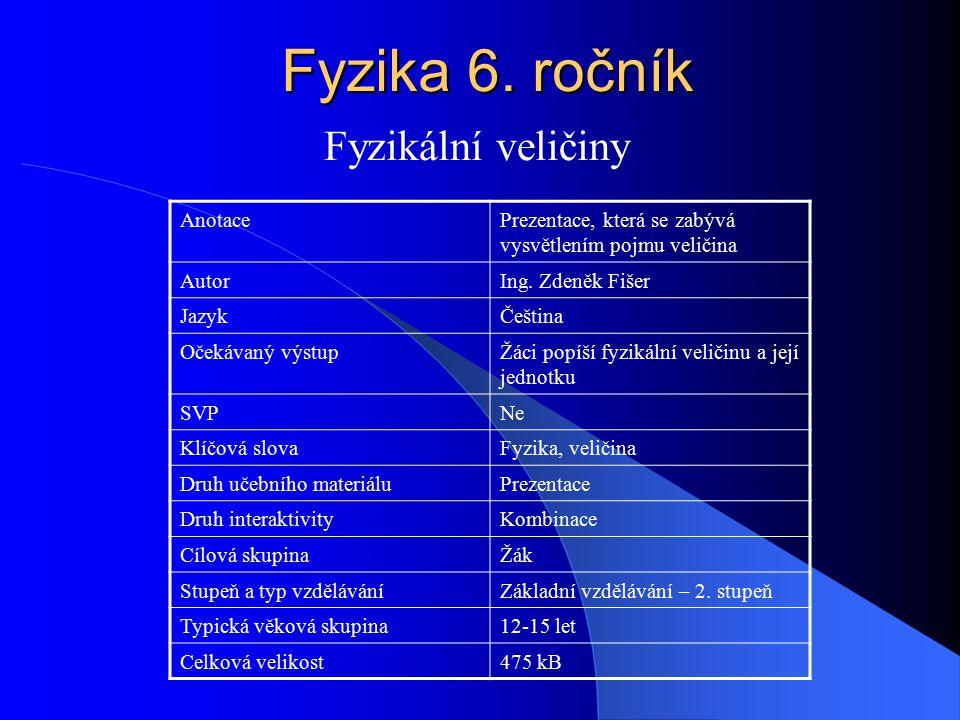 Fyzika 6.