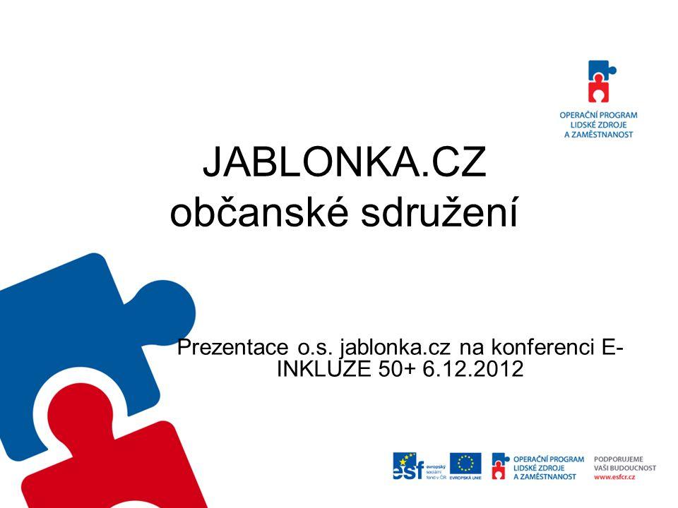 JABLONKA.CZ občanské sdružení Prezentace o.s. jablonka.cz na konferenci E- INKLUZE 50+ 6.12.2012