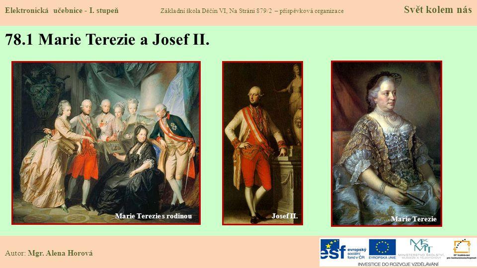 78.1 Marie Terezie a Josef II.Elektronická učebnice - I.
