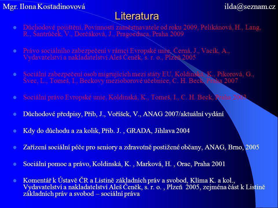 Sociální zabezpečení v ČR I.A.