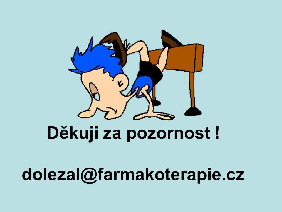 Děkuji za pozornost ! dolezal@farmakoterapie.cz