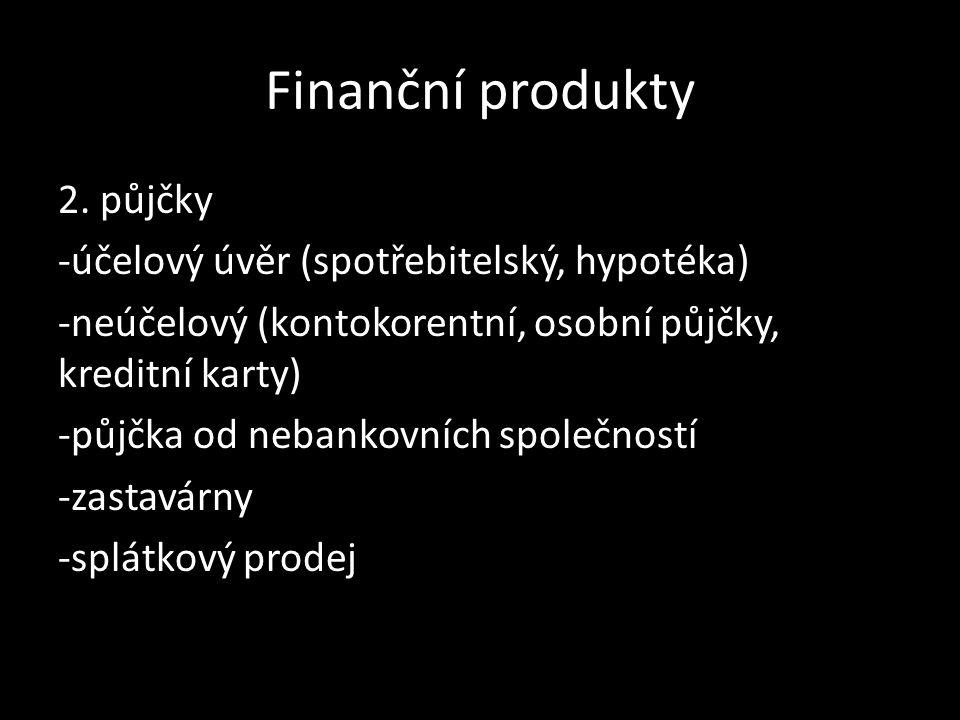 Finanční produkty 2.