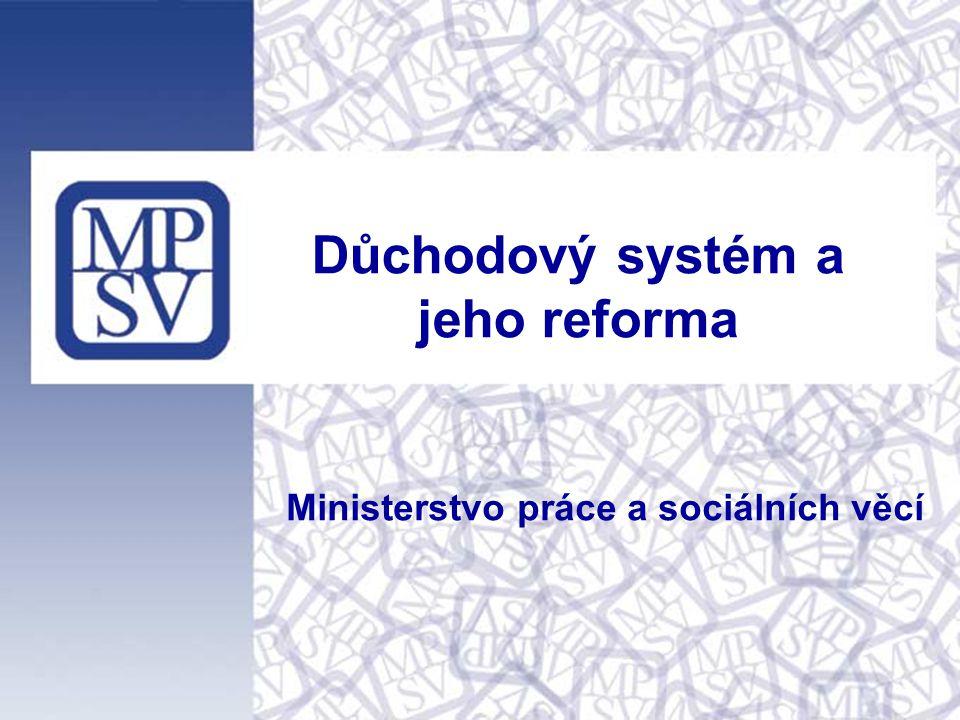 Obsah vystoupení - Úvodní zamyšlení a základní informace - Demografická situace a její vliv - Shrnutí vývoje důchodového zabezpečení - Diskuse o reformě - Mezinárodní kontext - Penzijní připojištění (respektive doplňkové důchodové spoření) - Podoba důchodových změn v budoucnu tel: 221 206 512, e-mail: vera.mala@mpsv.cz, www.mpsv.cz, www.noviny-mpsv.cz Ministerstvo práce a sociálních věcí, Tiskové oddělení, Na Poříčním právu 1, 128 01 Praha 2