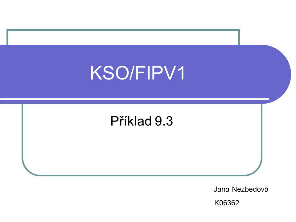 KSO/FIPV1 Příklad 9.3 Jana Nezbedová K06362