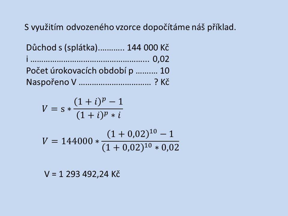 Vytvořte v programu Excel jednoduchou tabulku, která bude počítat naspořenou částku.