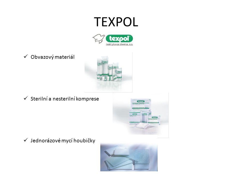 TEXPOL Obvazový materiál Sterilní a nesterilní komprese Jednorázové mycí houbičky