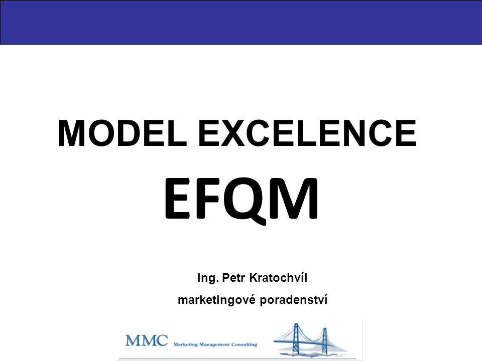 MODEL EXCELENCE EFQM Ing. Petr Kratochvíl marketingové poradenství