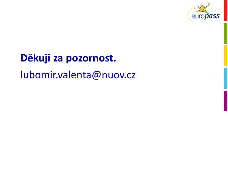 Děkuji za pozornost. lubomir.valenta@nuov.cz