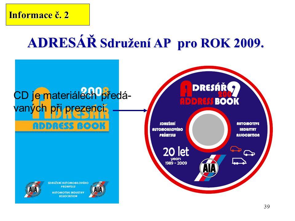 39 ADRESÁŘ Sdružení AP pro ROK 2009.